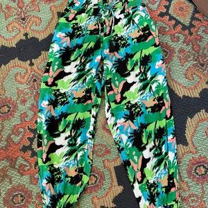 Aerie Turquoise & Green Rayon Harem Pants size S